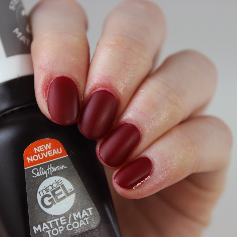 Sally Hansen New Miracle Gel Shades + New Matte Top Coat